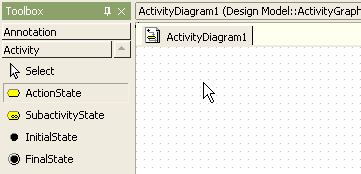 Staruml 50 user guide modeling with activity diagram and click at the position where actionstate will be placed in the main window ccuart Choice Image