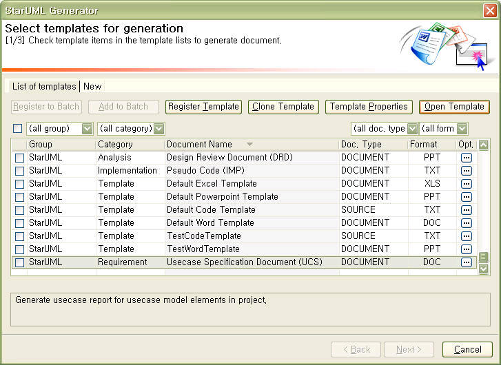 Staruml 50 user guide generating codes and documents opening a template maxwellsz